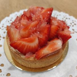Tartelette aux fraises individuelle.