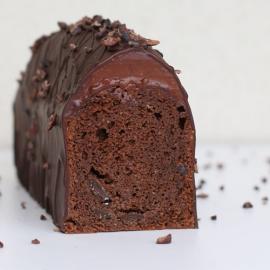 Cake chocolat, ganache à la part