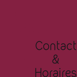 Contact ~ Horaires